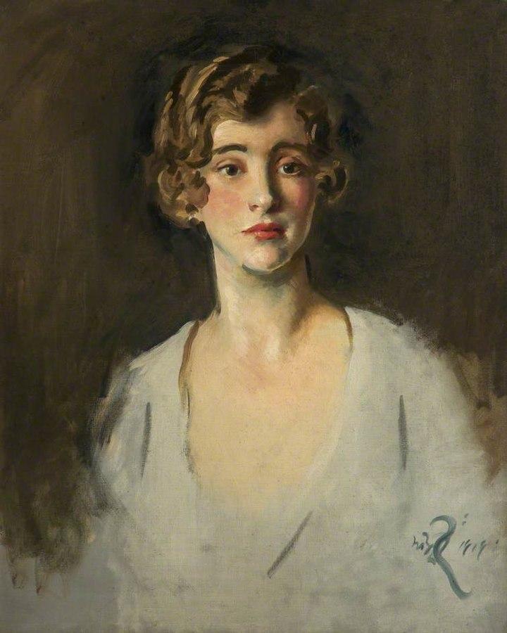 Head of a Young Woman; 1919. William Bruce Ellis Ranken. Salford Museum & Art Gallery