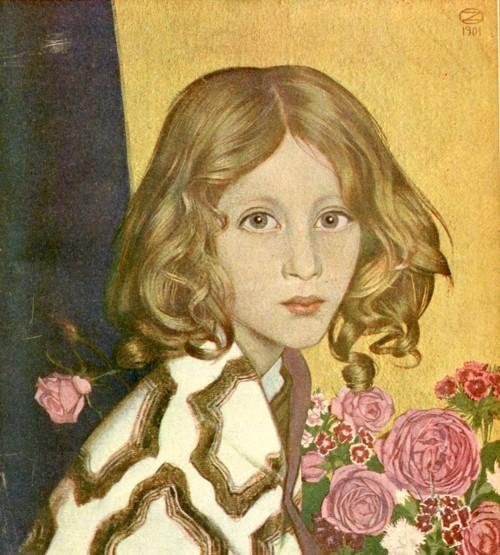 Ребенок с розами (Kind mit Rosen) 1901