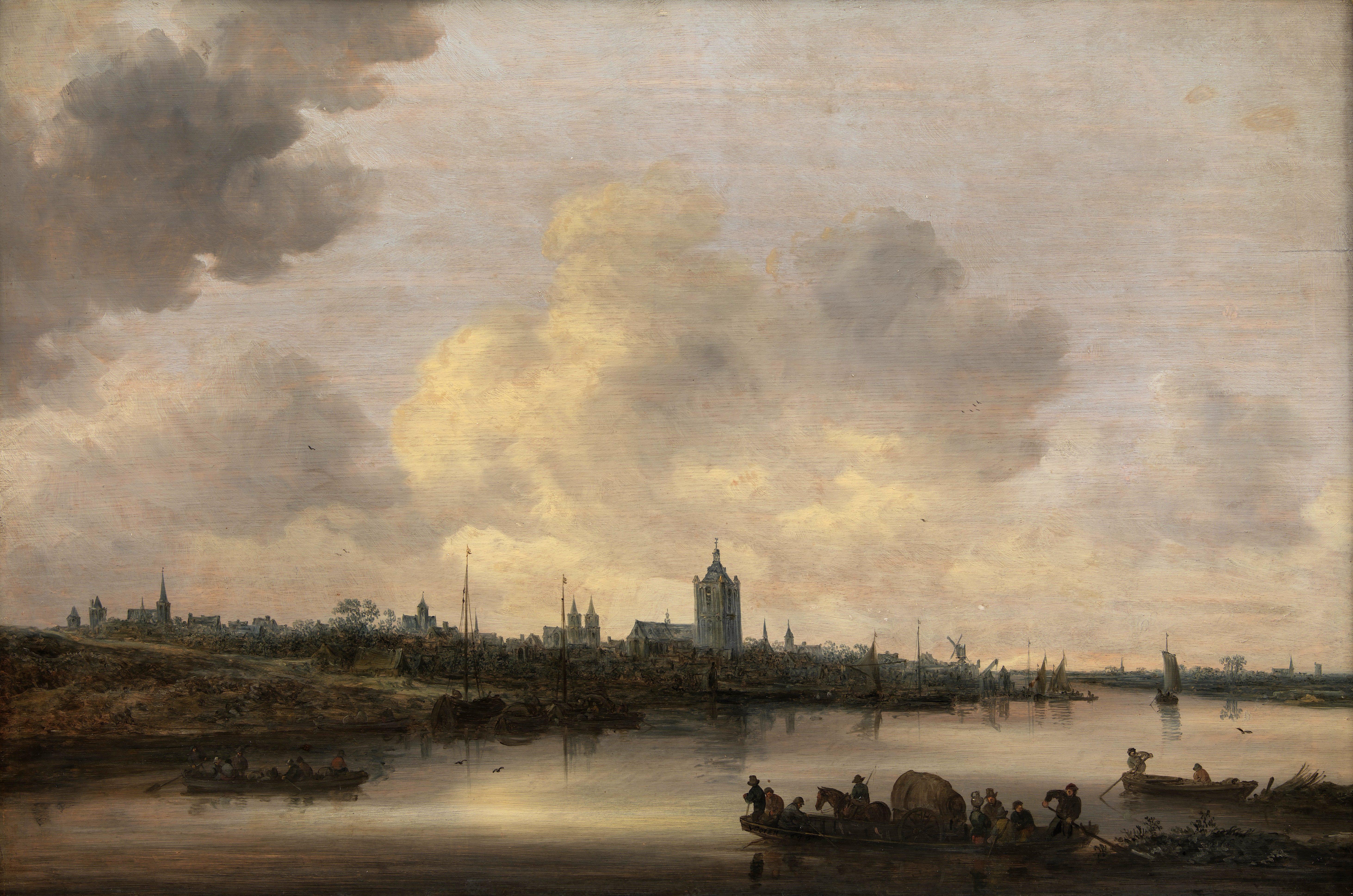 Гойен, Ян ван (1596-1656) - Пейзаж с видом на Арнем 1646. Копенгаген, Датская национальная галерея