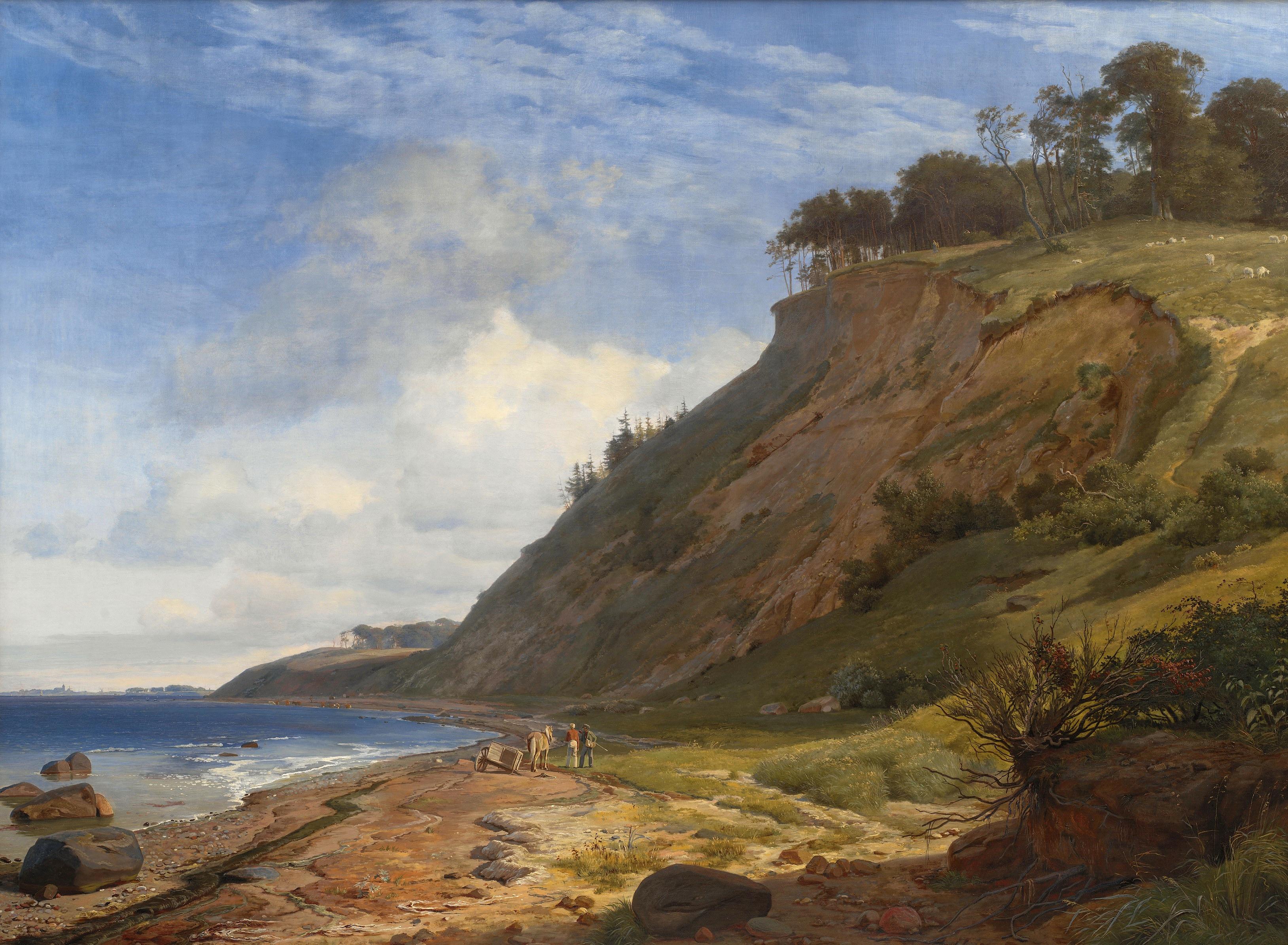 Лундбю, Йохан Томас (1818-48) - Датский берег. Вид из Китнес на Роскилле-фьорд 1843. Копенгаген, Датская национальная галерея