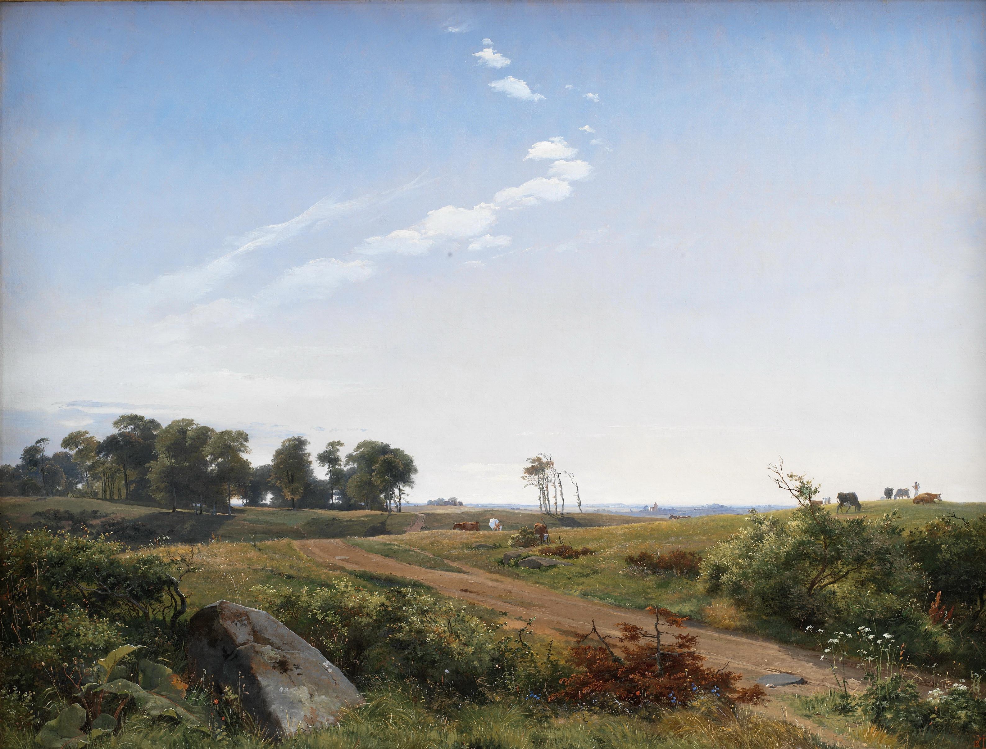 Лундбю, Йохан Томас (1818-48) - Пейзаж в Северной Зеландии. 1842. Копенгаген, Датская национальная галерея