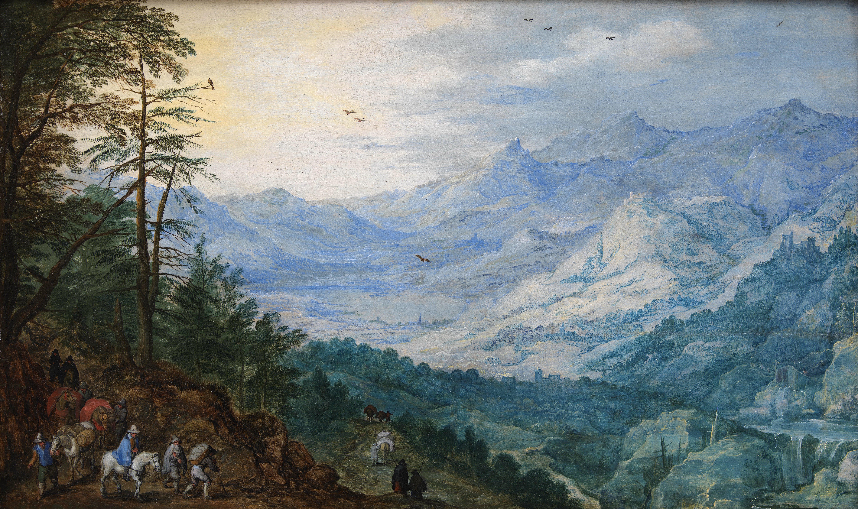 Момпер, Йос де (1564-1635) - Горный пейзаж ок. 1615. Копенгаген, Датская национальная галерея