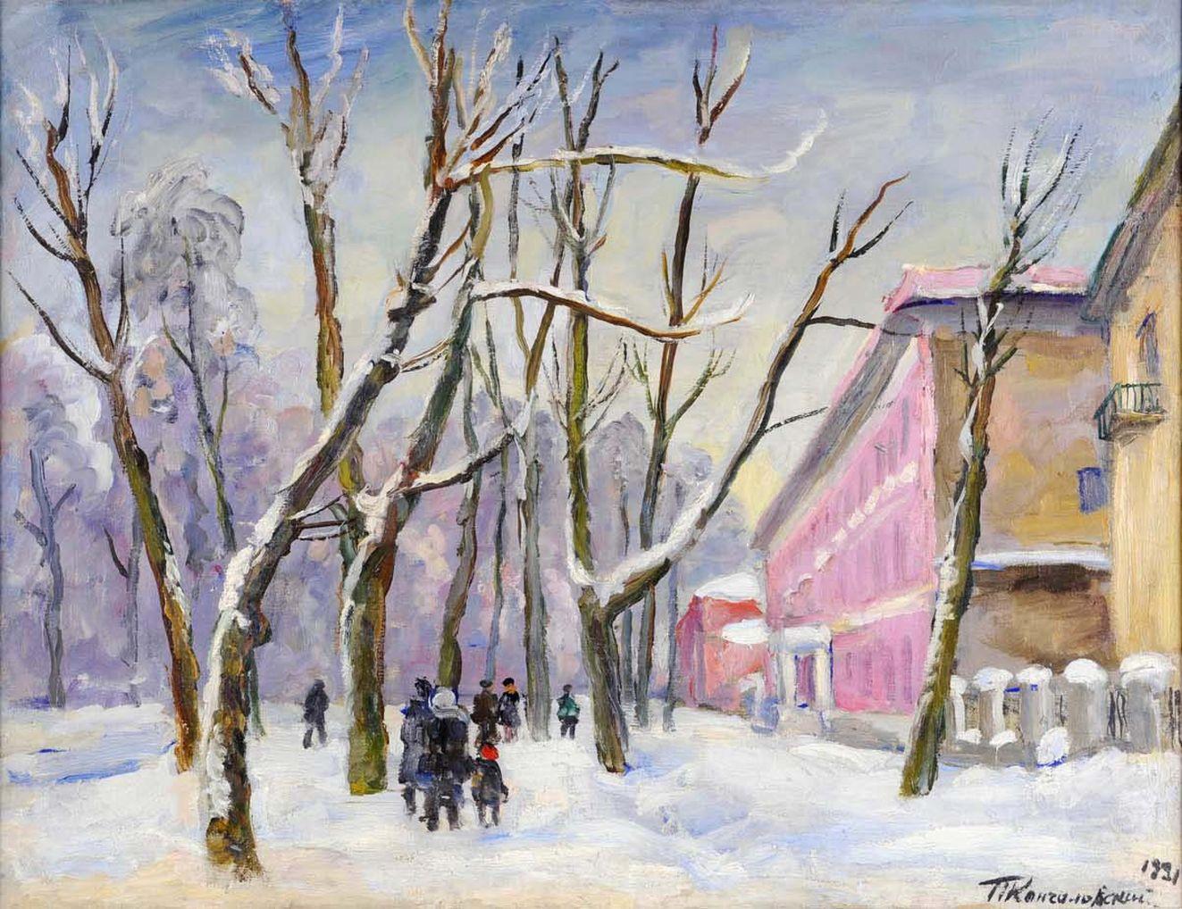 Петр Кончаловский. Большая Садовая. Розовый дом. 1931.