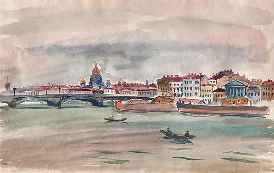 Петр Кончаловский. Ленинград. Нева. 1931.