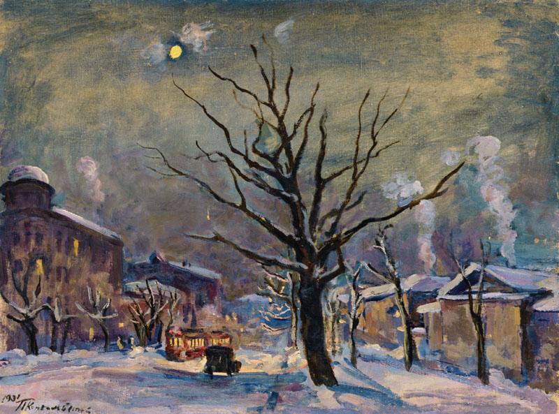 Пейзаж с луной. Большая Садовая. (1931). Петр Кончаловский.