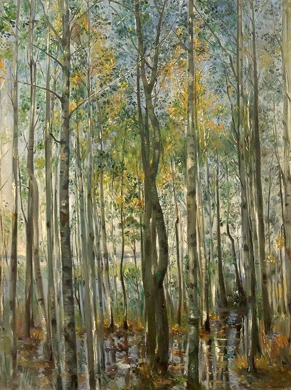 Lovis Corinth. A Forest. Flooding on Lake Starnberg. 1896