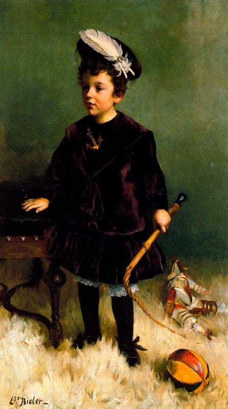 Le Petit Garcon au fouet. Ernest Biéler