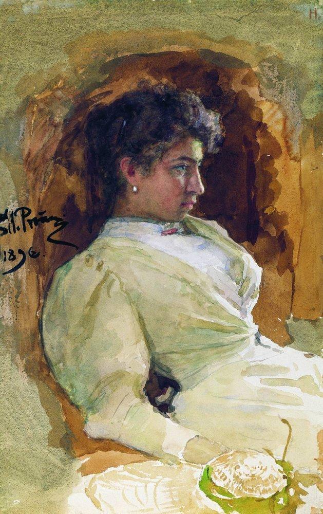 Портрет Н. И. Репиной. 1896. Илья Ефимович Репин