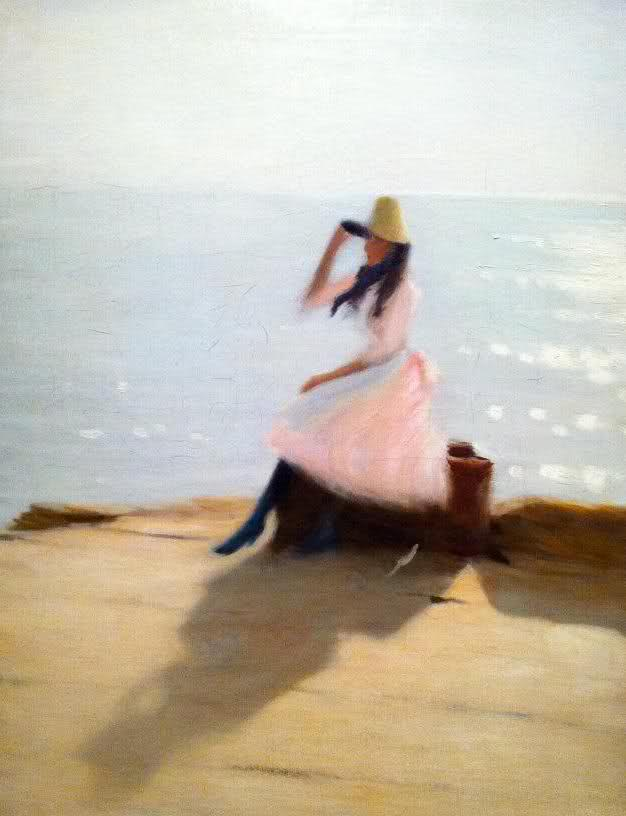 Philip Wilson Steer, Young Woman on the Beach, Walbeerswick, 1886-88, Oil on canvas, 126 x 92 cm, Musée d'Orsay, Paris
