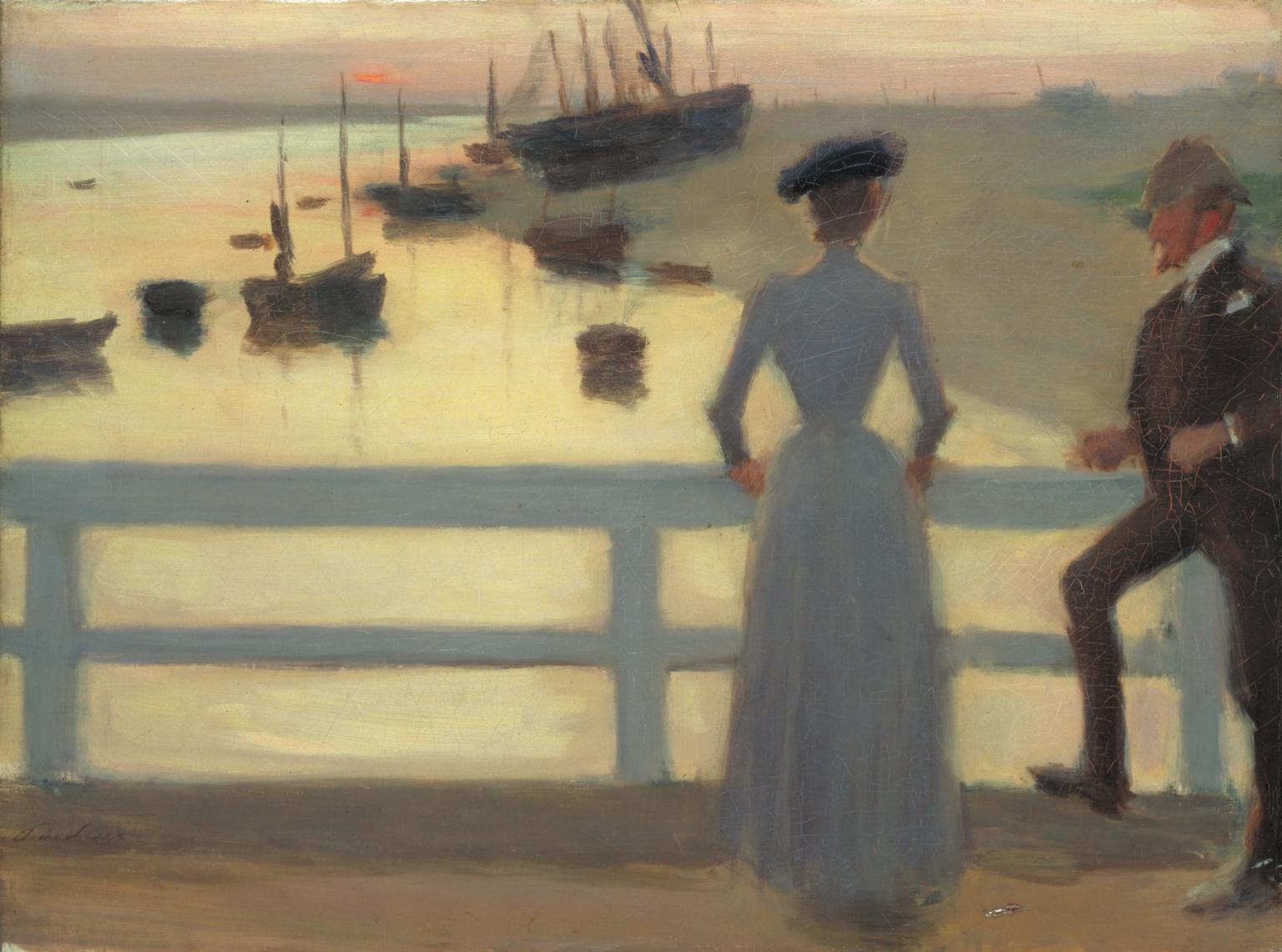 The Bridge.1887. Philip Wilson Steer (1860-1942)