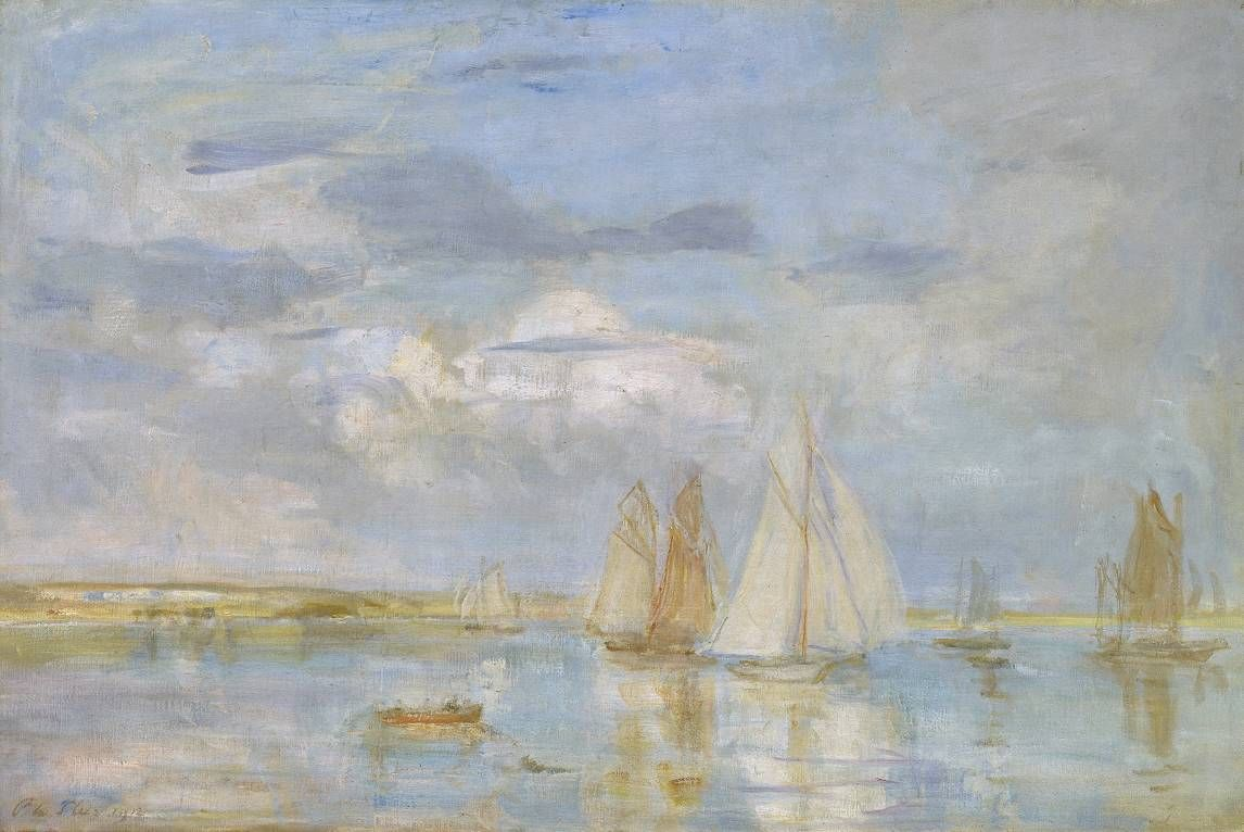 Philip Wilson Steer, The White Yacht, 1912, Oil on canvas, 61,3 x 92 cm, Tate Gallery, London
