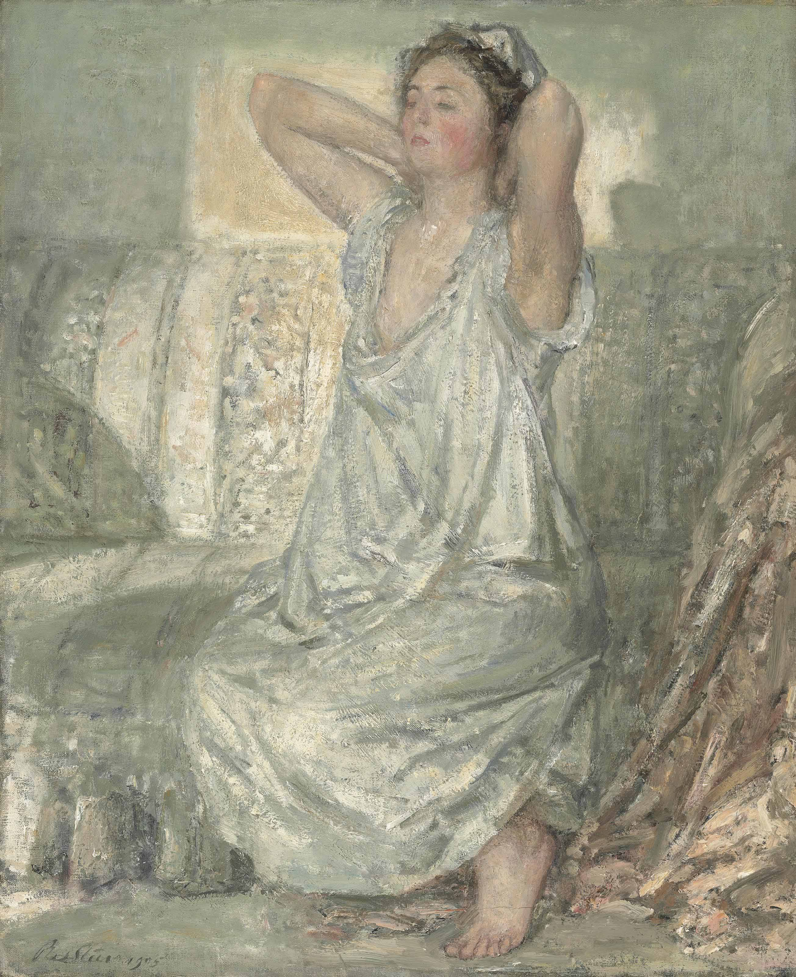 Philip Wilson Steer (1860-1942). Lady in a chemise