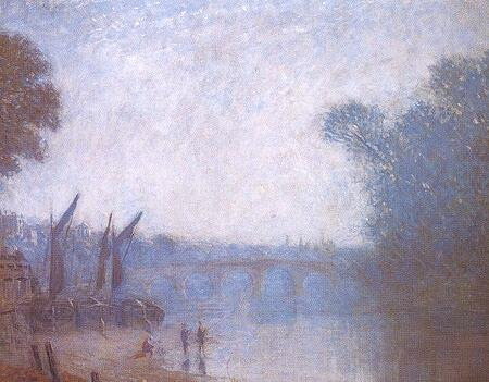 Philip Wilson Steer. Classic Landscape, Richmond (1893)