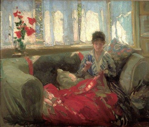 Philip Wilson Steer.Woman Sewing