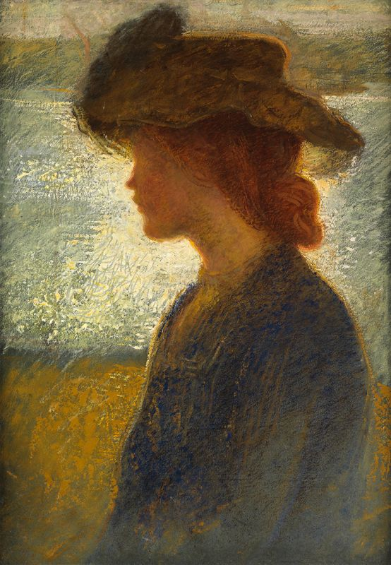 Attributed to Philip Wilson Steer, 1860-1942. Against the Light, by the River