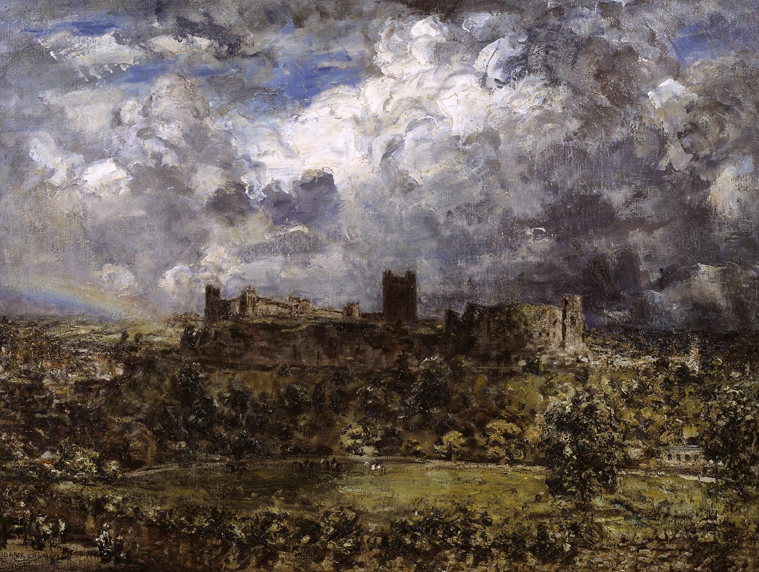 Philip Wilson Steer, Richmond Castle, 1903, Oil on canvas, 76,8 x 102,2 cm, Tate Gallery, London