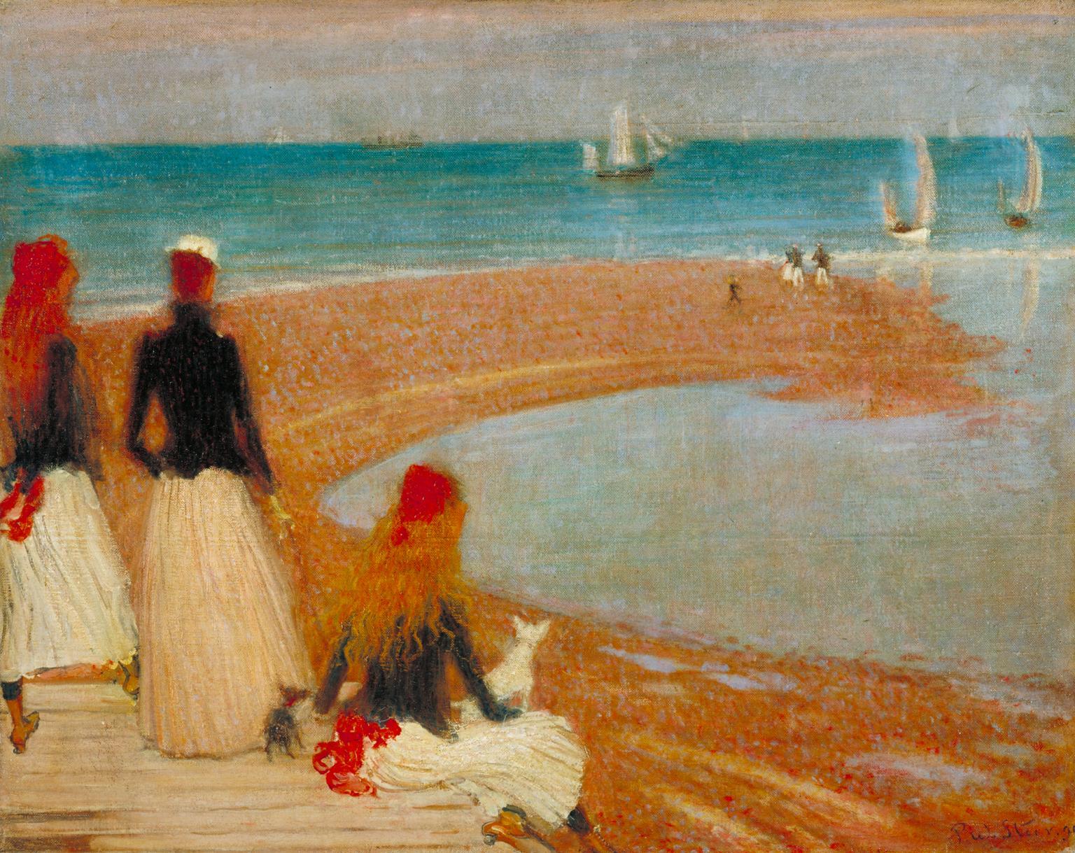 Philip Wilson Steer .The Beach at Walberswick (1889)