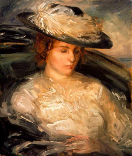 Philip Wilson Steer. Portrait of Miss Scobell in a Bathchair (The Convalescent) 1900.