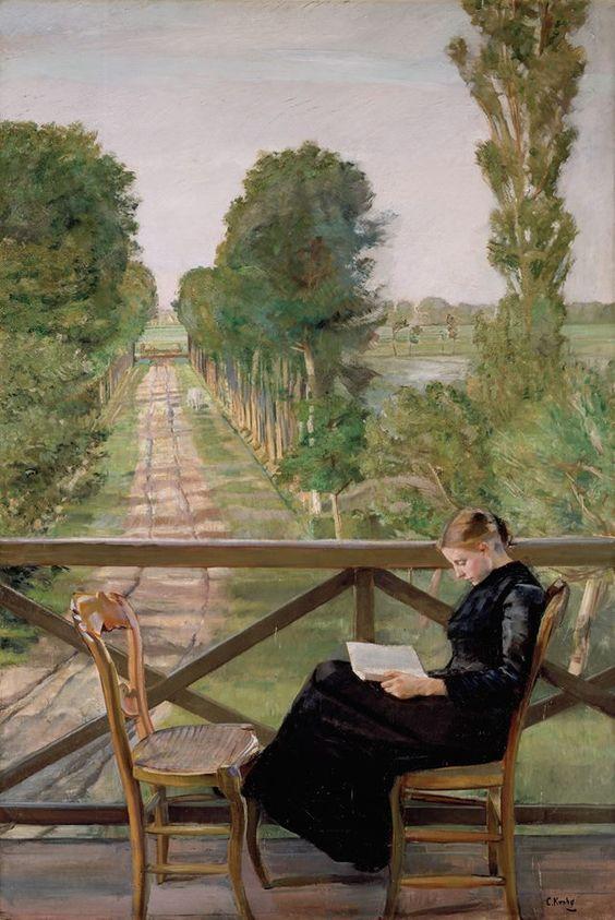 Villa Britannia, Belgium. 1885. Christian Krohg / Вилла Britannia, Бельгия. 1885. Кристиан Крог