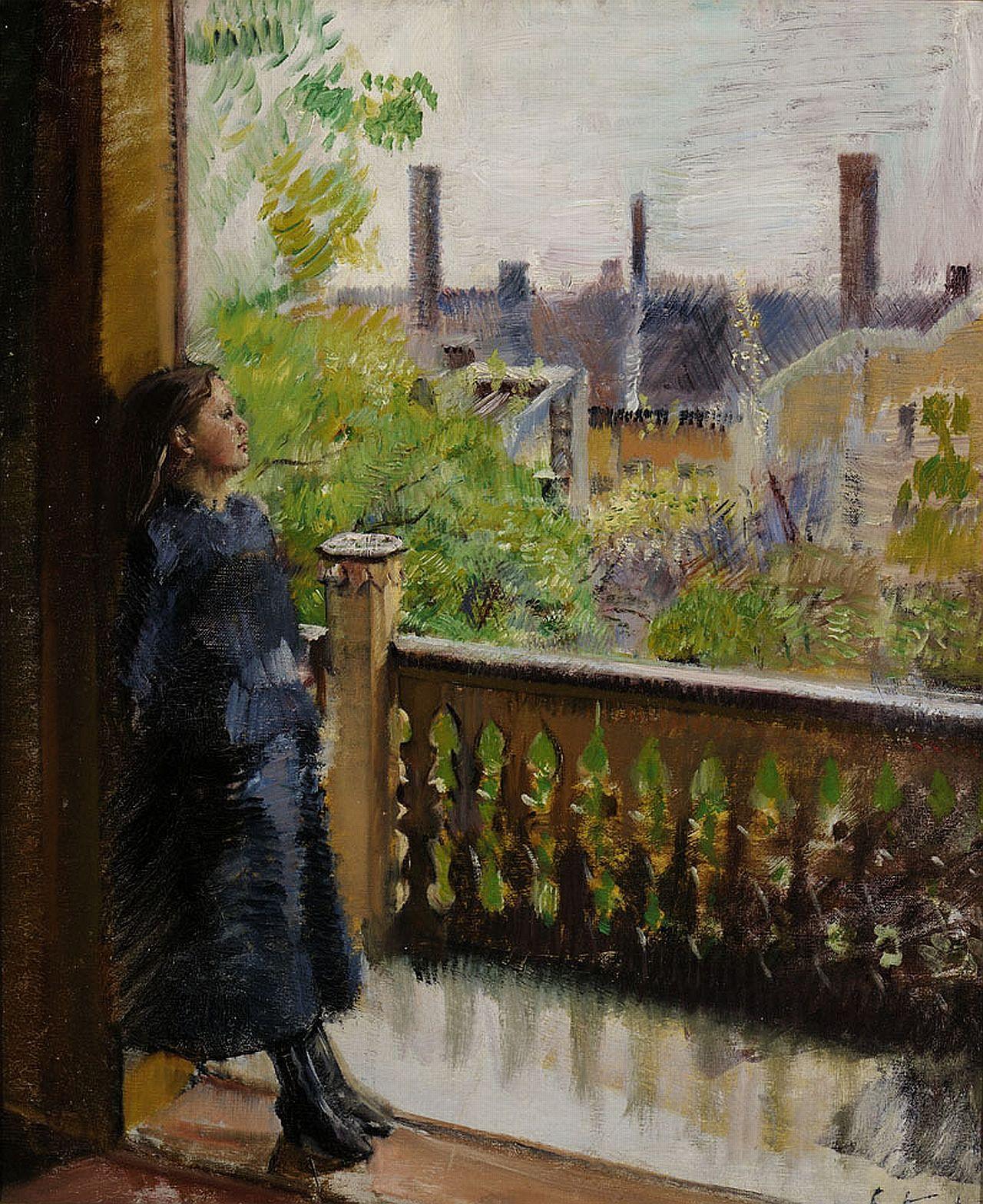 Christian Krohg. Altanen i Grønnegate-1889. / Балкон в Гроннегате - 1889. Кристиан Крог