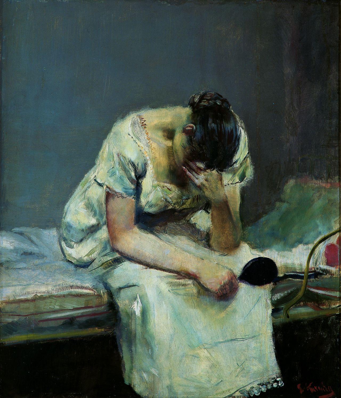 Christian Krohg-Madeleine-1883/ Кристиан Крог - Мадлен - 1883