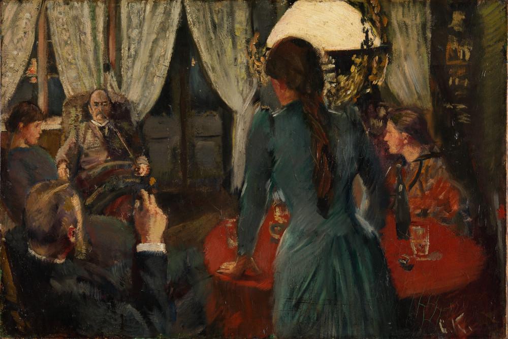 Christian Krohg. Aften på Løkken (Вечер в  Локкене) 1889