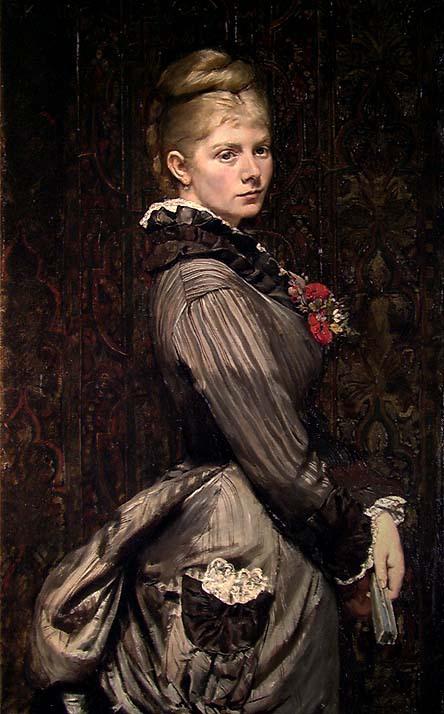 Portrait of Lucy Parr Egeberg, 1876. Christian Krohg