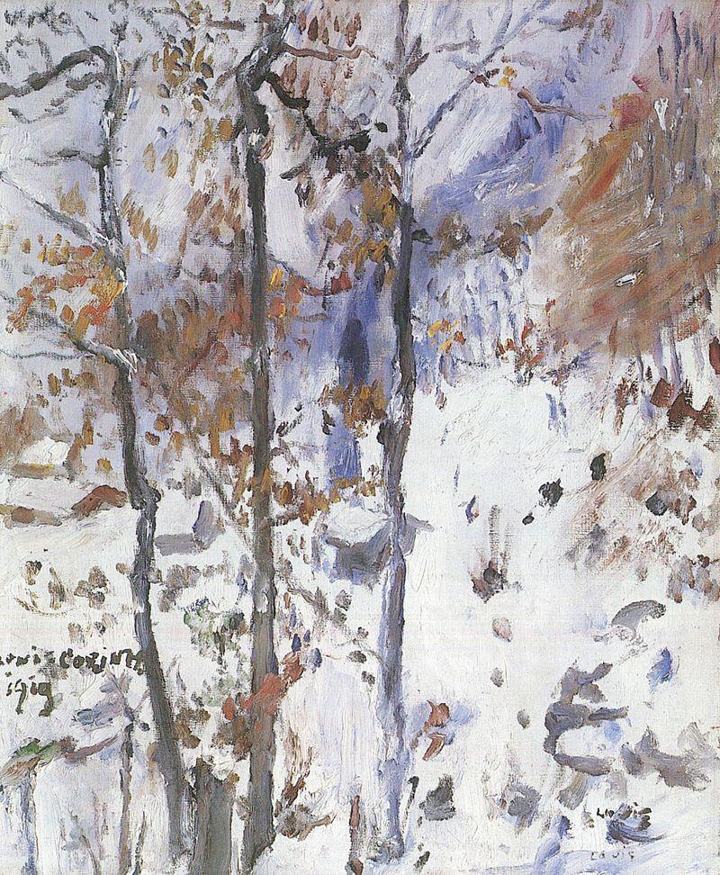 Lovis Corinth. Walchensee Schneelandschaft. 1919