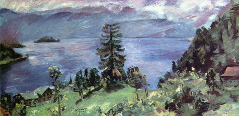 Lovis Corinth.  Walchensee-Panorama, Blick von der Kanzel