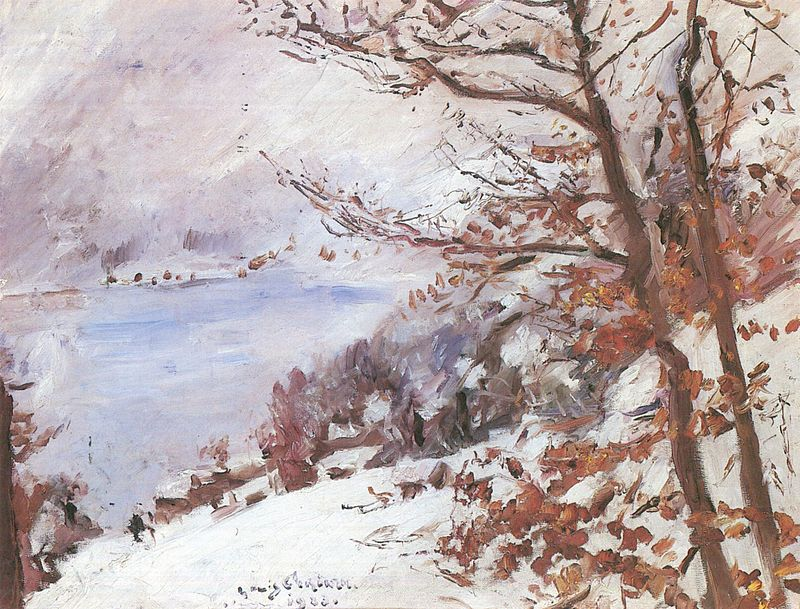 Lovis Corinth. Walchensee im Winter.1923