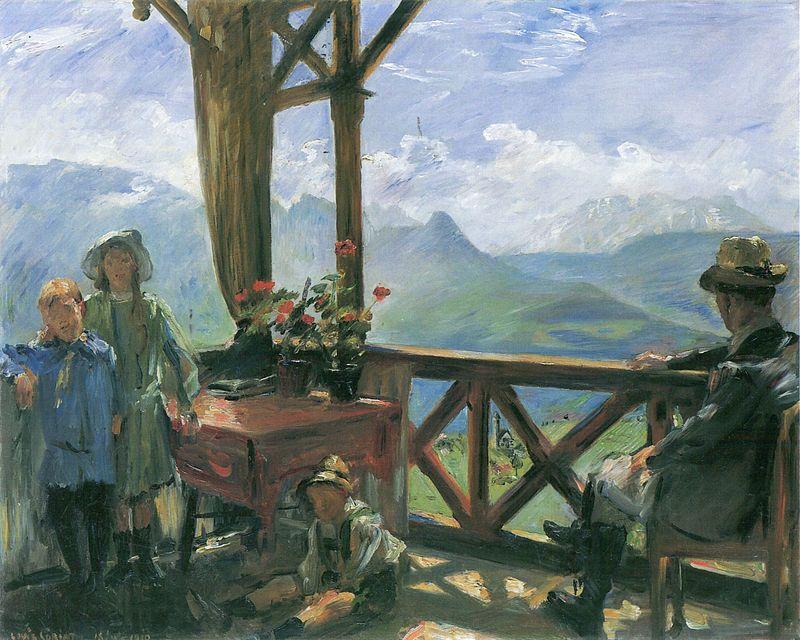 Lovis Corinth.Terrasse in Klobenstein Tirol. 1910