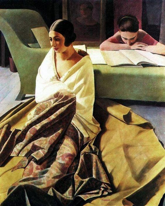 Felice Casorati, Raja, 1924-1925, Tempera su tavola, Collezione privata