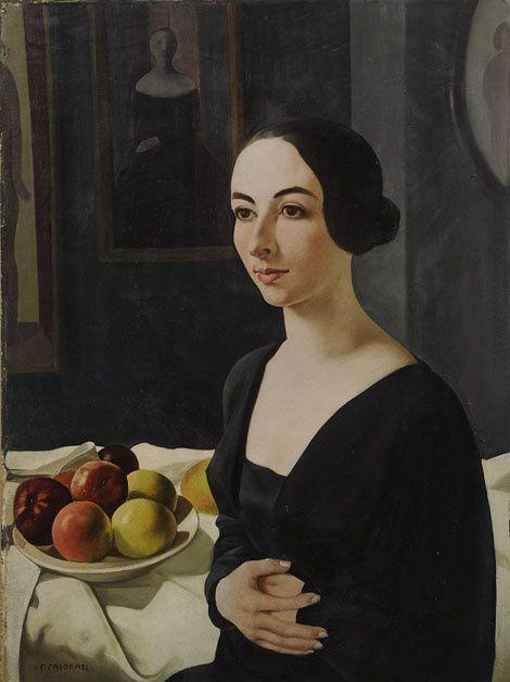 Portrait of Hena Rigotti. 1924. Felice Casorati