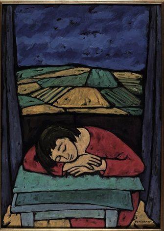 Ragazza dormiente by Felice Casorati