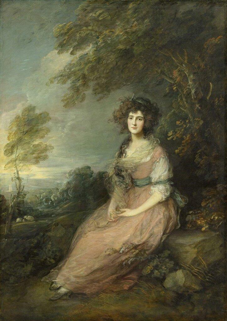 Mrs. Richard Brinsley Sheridan. Thomas Gainsborough. 1787.National Gallery of Art, Washington, D.C. / Миссис Ричард Бринсли Шеридан. Томас Гейнсборо. 1787.Национальная Галерея искусств, Вашингтон, округ Колумбия