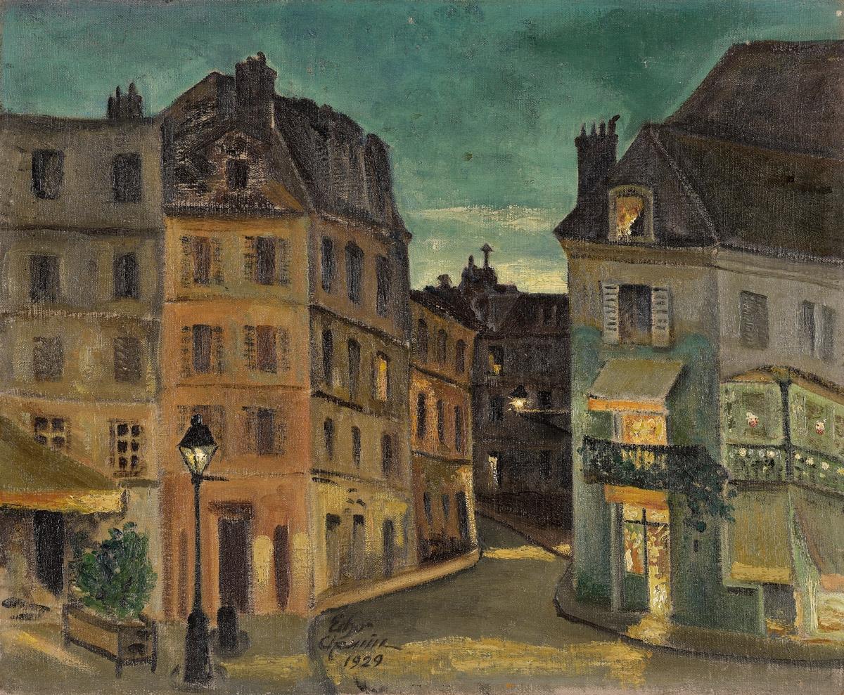 Chahine, Edgar 1874 Wien - 1947 Paris. Stadtansicht.jpg