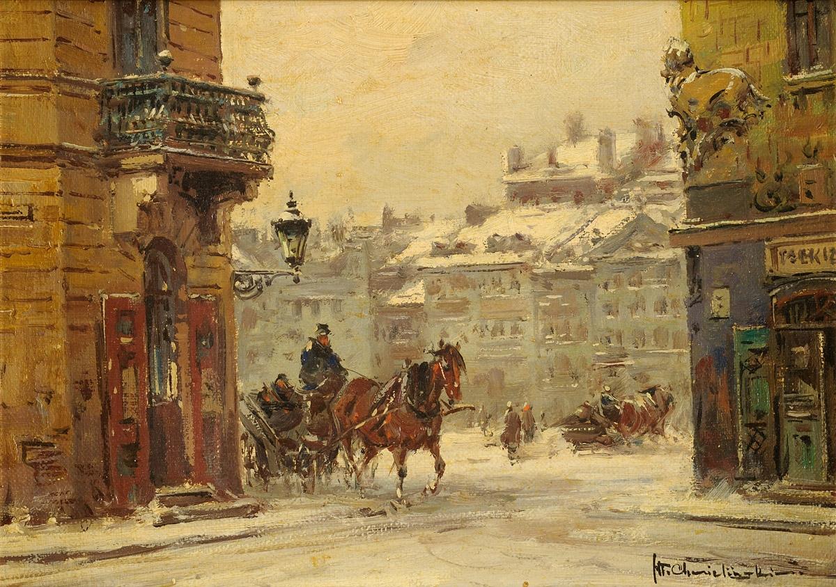 Chmielinski, Wladyslaw 1911 Warschau - 1979 Warschau Winter in der Stadt.jpg