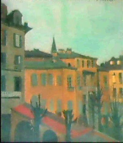 CASE DI TORINO (1926) by Felice Casorati