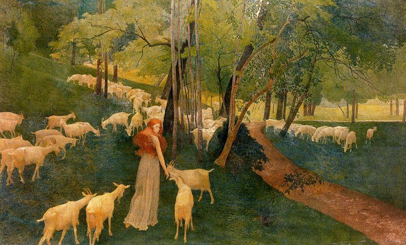 Козы в лесу. Ernest Biéler
