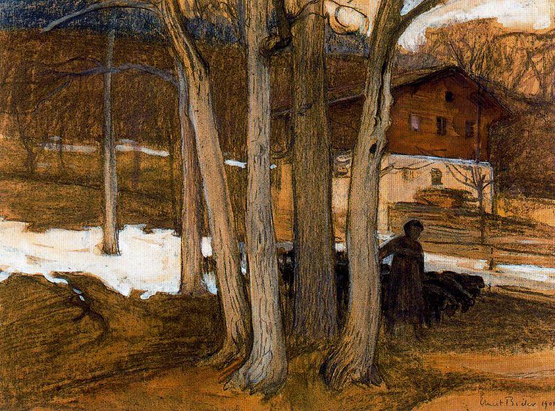 Деревья. Ernest Biéler