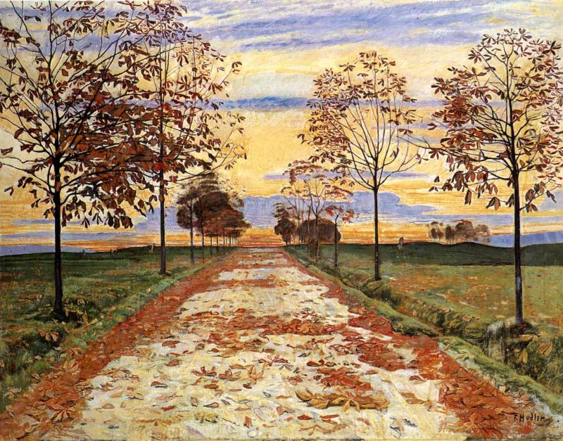 Осенний вечер.Фердинанд Ходлер /  Ferdinand Hodler.1893