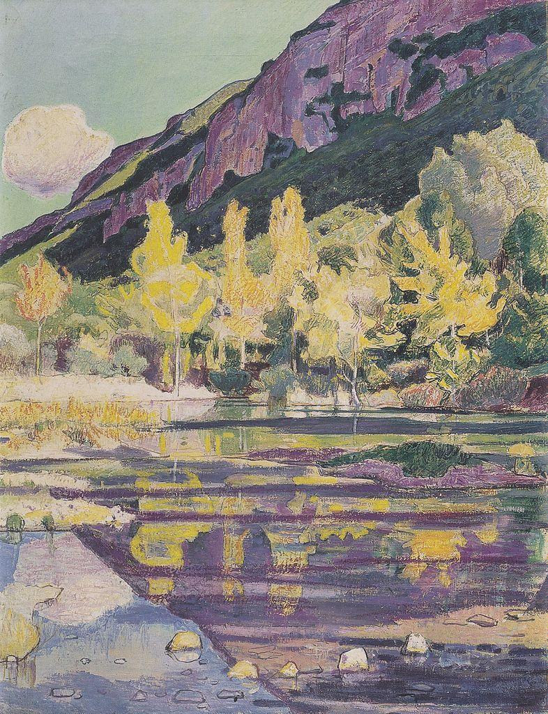 Ferdinand Hodler. Am Fuss des Petit Salève.1893