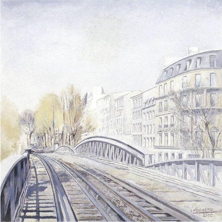 Lev Meshberg. Paris subway.  Spring