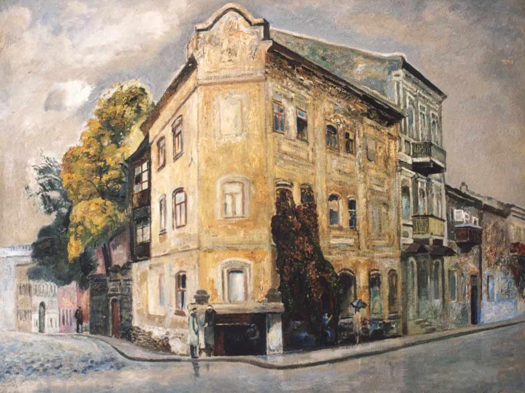 Старинный дом. 1971 г. Лев Леонидович Межберг