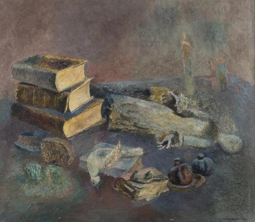 by Lev Meshberg. Натюрморт в моей мастерской. 1978