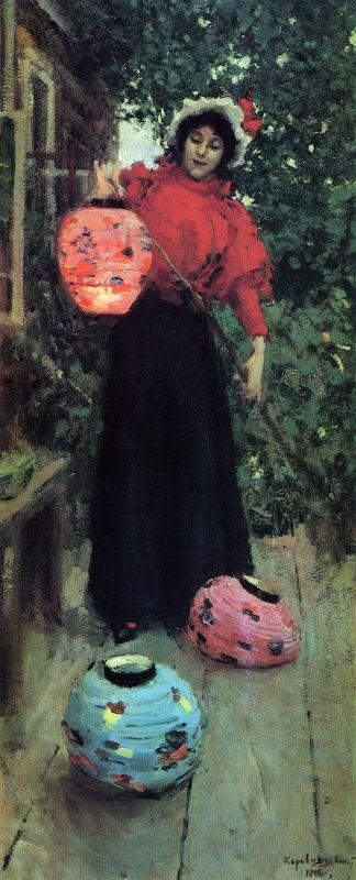 Бумажные фонари. Константин Алексеевич Коровин 1898