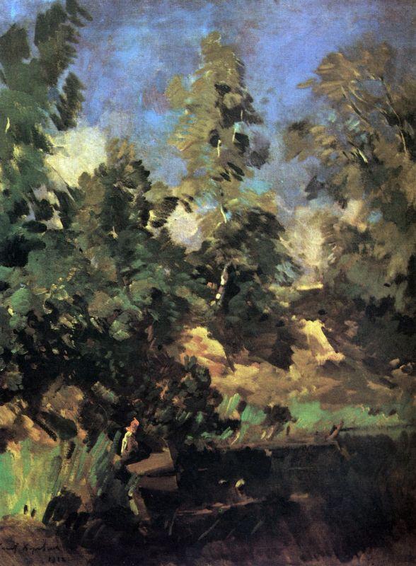 Ветер.Константин Алексеевич Коровин. 1916
