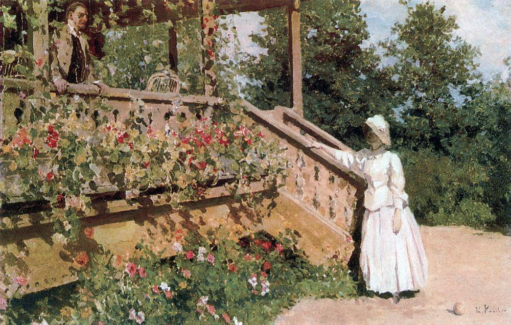 Коровин Константин Алексеевич – Настурции. 1888