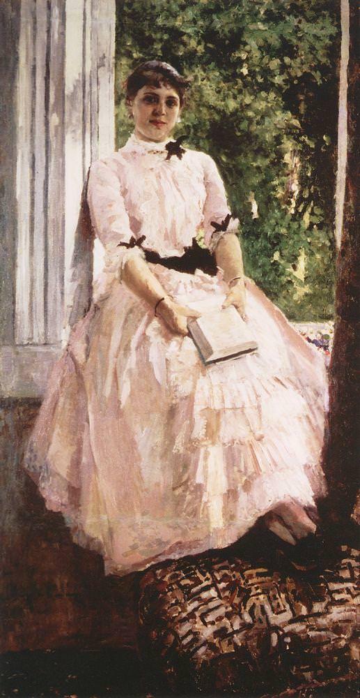 Портрет артистки Татьяны Спиридоновны Любатович. Вторая половина 1880-х