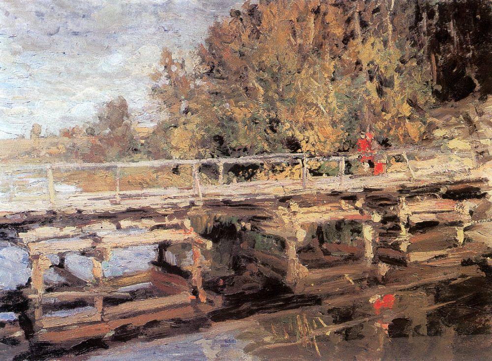 Коровин Константин Алексеевич – Осень. На мосту. 1910-е
